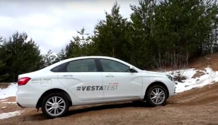 video test-lada vesta
