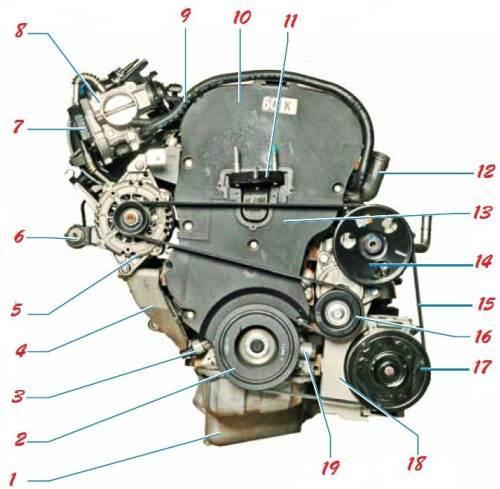 Схема ремня генератора шевроле фото 562