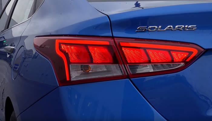 Хендай Солярис 2020 новый кузов задние фонари