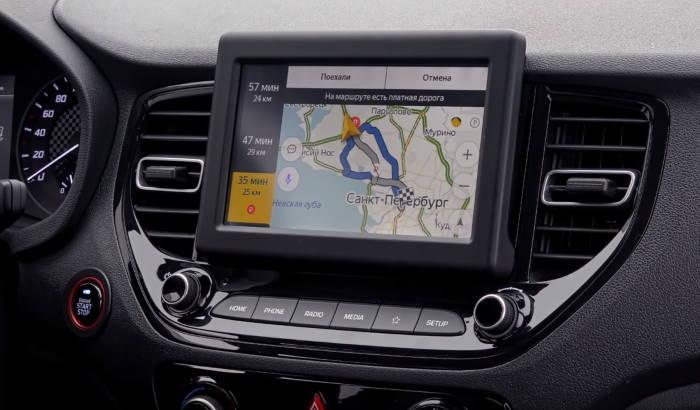Фото сенсорного экрана Хендай Солярис 2020 новый кузов