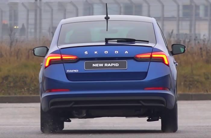 Новый кузов Шкода Рапид 2020 вид сзади