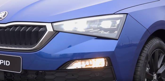 Новый кузов Шкода Рапид 2020 фары спереди