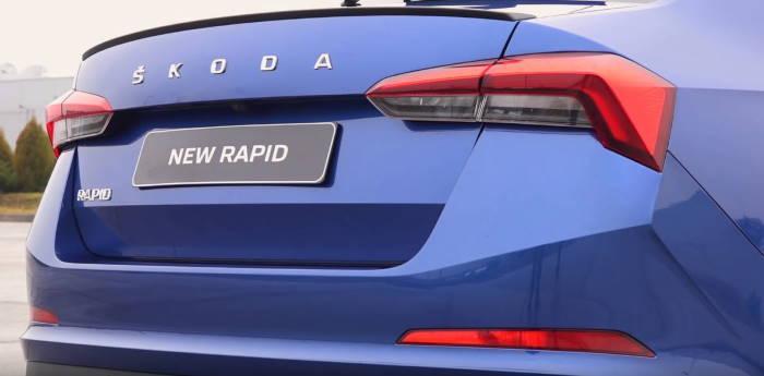 Новый кузов Шкода Рапид 2020 задние фонари